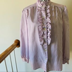 Urban Outfitters Pins & Needles Purple Stripe Top